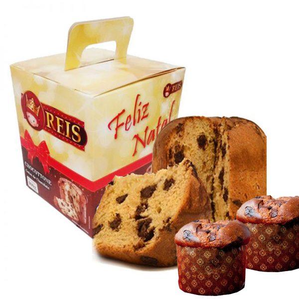 Kit de Degustação - Amostras - Panetones com Gotas de Chocolate - Chocotones de 400gr e 500gr - Barato - Promoção - Fábrica
