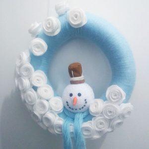 Guirlanda de Natal em La Boneco de Neve